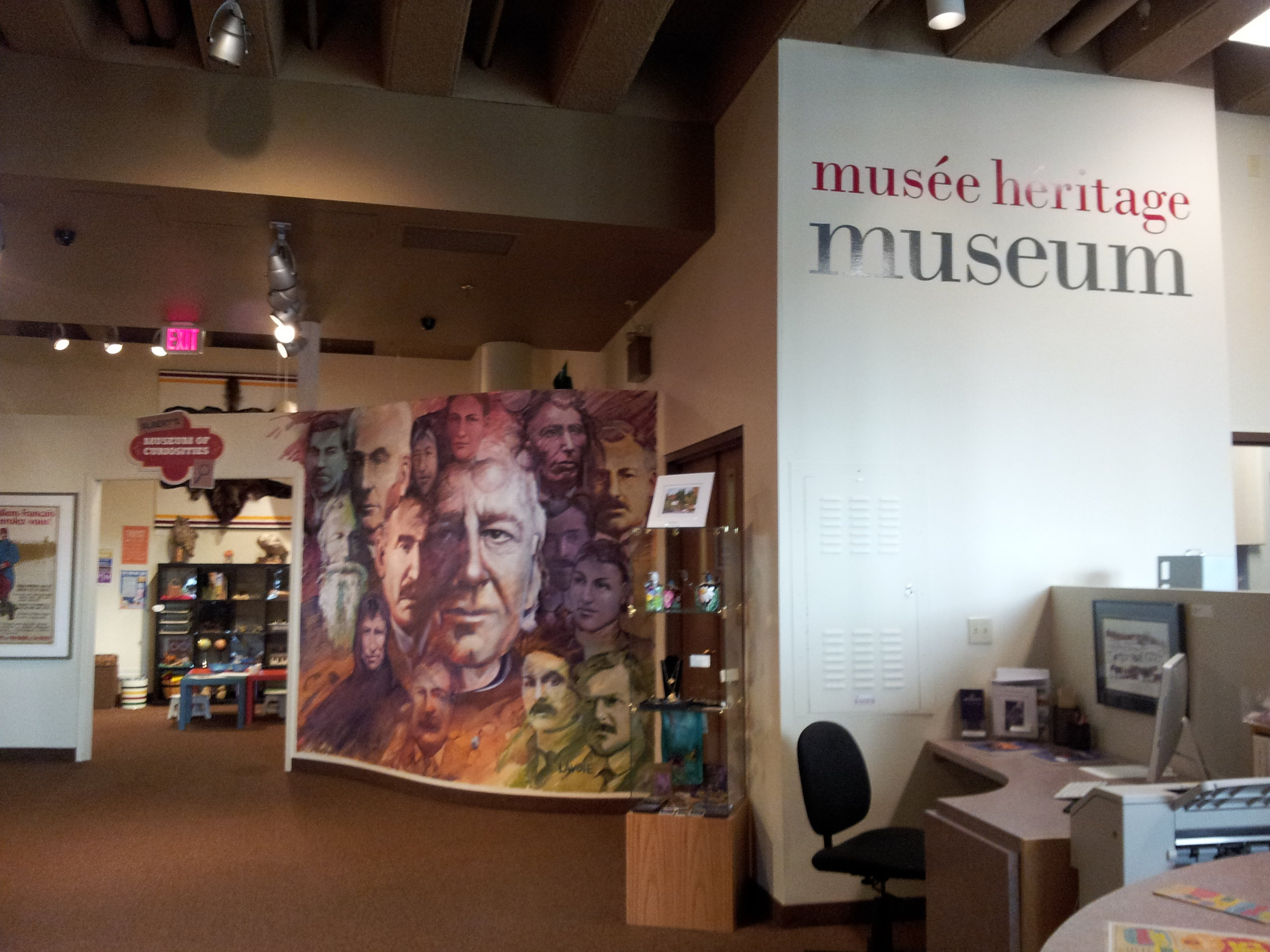 Musée Héritage Museum's Discovery Room and Research Desk!