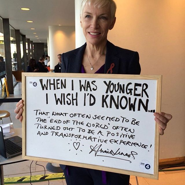 This quote by Annie Lennox is so true..if only we knew that when we were younger..well we certainly need to know that now..to keep moving forward..to learn..to grow..to evolve into our best selves. Don't you agree?