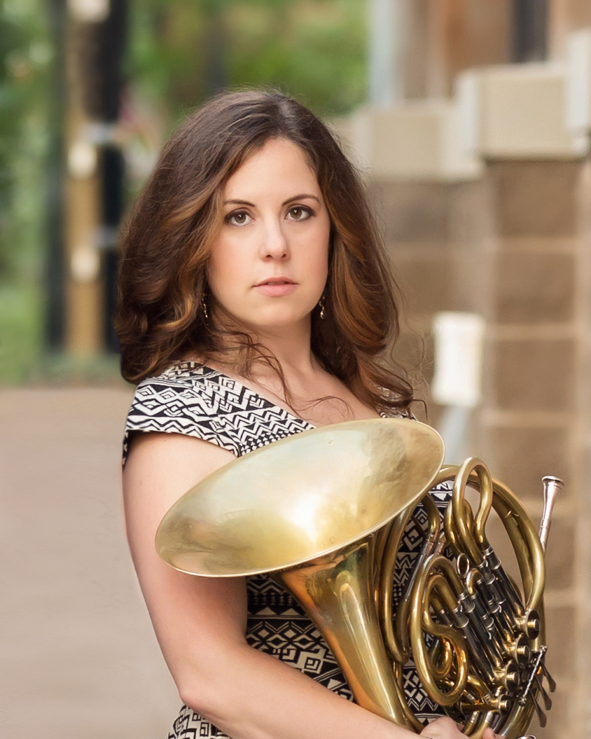 "Katy Ambrose , horn  Praised by the Philadelphia Inquirer as a ""spectacular"" and ""graceful"" musician, Katy Ambrose has made a name for herself as an educator, chamber and orchestral musician. She joined the faculty of the University of Virginia as Lecturer in Horn and Principal Horn of the Charlottesville Symphony in the Fall of 2015, and also holds the position of Fourth Horn of the Delaware Symphony Orchestra. Previously, Katy was a founding member and horn player in Seraph Brass, Second Horn in the Northeastern Pennsylvania Philharmonic, Fourth Horn in the Philly Pops!, Acting Assistant Principal/Utility horn in the Albany Symphony, and Assistant Principal horn in the Lexington Philharmonic (Lexington, KY). She has performed with the Philadelphia Orchestra, Opera Company of Philadelphia, Pennsylvania Ballet, Hawai'i Opera Theater/Hawai'i Symphony Orchestra, Chamber Music Honolulu, Chamber Orchestra of Philadelphia, Harrisburg Symphony, Vermont Symphony, New Haven Symphony, and regionally with Opera on the James, Ash Lawn Opera, and the Staunton Music Festival."