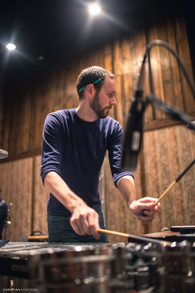 Robert Schroyer , percussion  Robert Schroyer is a frequently sought-out international soloist, performer, pedagogue, and chamber musician in the Washington D. C. metropolitan area. He is currently the Principal Percussionist and Director of Operations with the New Orchestra of Washington. He has recorded professionally with the Naxos, Centaur, and Acts labels.  As a Marimba Soloist, Robert has been showcased with the University of Maryland (UMD) Chamber Singers, UMD Symphony Orchestra, and the New Orchestra of Washington. In the same vein, he took prizes in the ENKOR, Symphony Orchestra League of Alexandria, University of Maryland, and PASIC International Solo Marimba Competitions. Recently, Mr. Schroyer was a guest recitalist and clinician of the McCormick Marimba Festival and the 1st International Percussion Festival of Barranquilla, Colombia.  He earned his Master of Music in Percussion from the University of Maryland and holds a Bachelor of Music Education degree,  summa cum laude , from Stetson University, where he was awarded the 2014 Presser Scholarship.