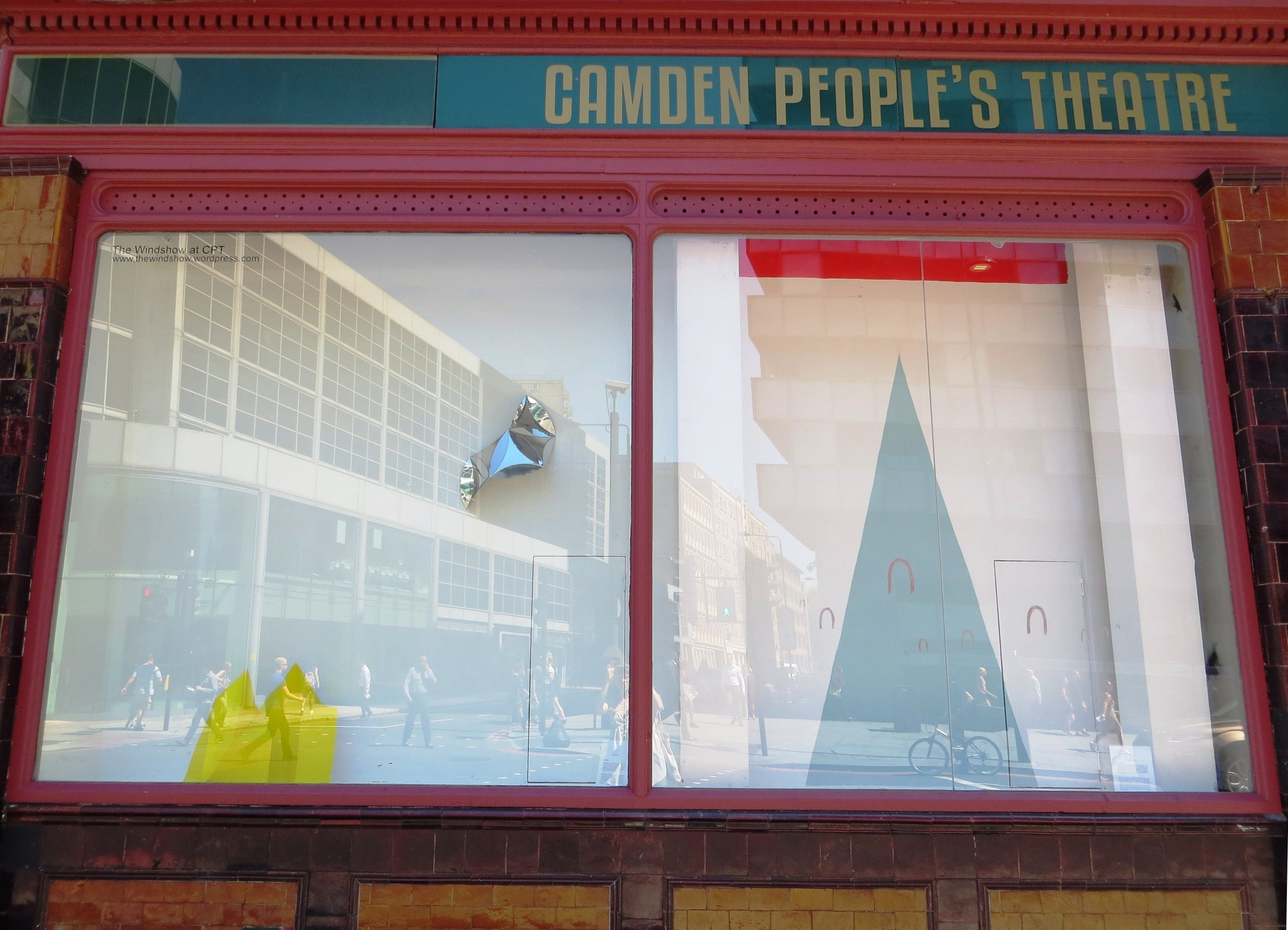 Summer 2016. Brigitte Parusel (left) and Hannah Luxton (right). Camden Peoples Theatre windows.