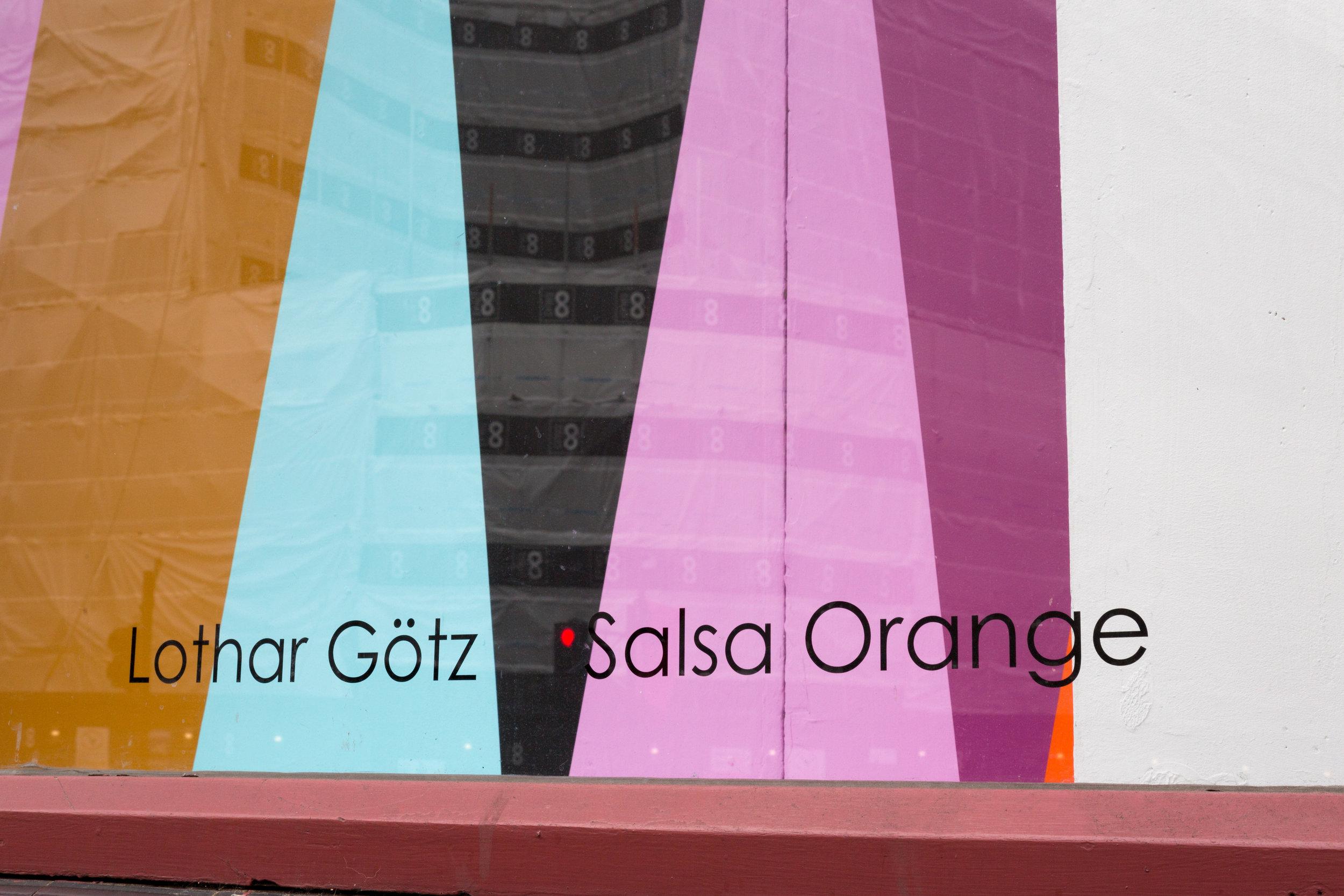 Lothar Götz 'Salsa Orange', 2019. Photo by Benjamin Deakin