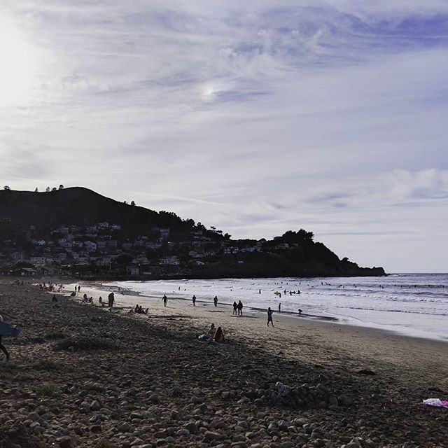 Recharging 💜 A beautiful beach in Pacifica, loved by surfers, dogs and people who love the energy of the ocean.  #pacifica #ca #california #ocean #beach #californialiving