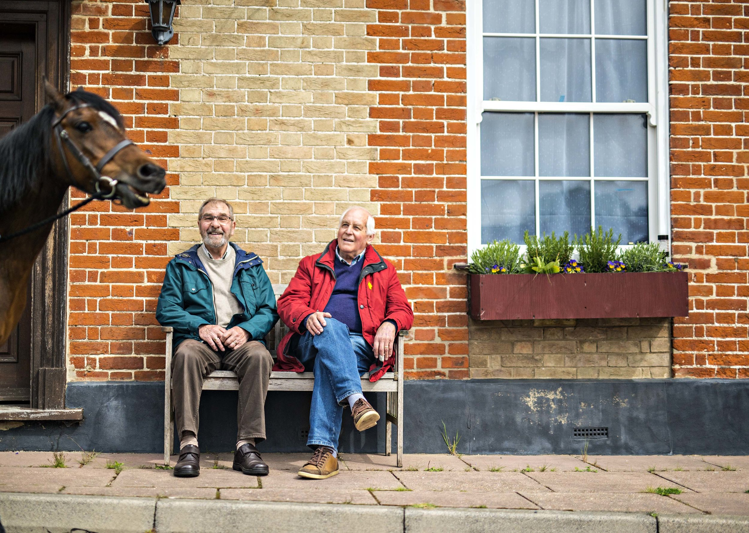 Growing Up Wild Campaign - Keith and Robert back in the village they grew in during the 2nd World War.