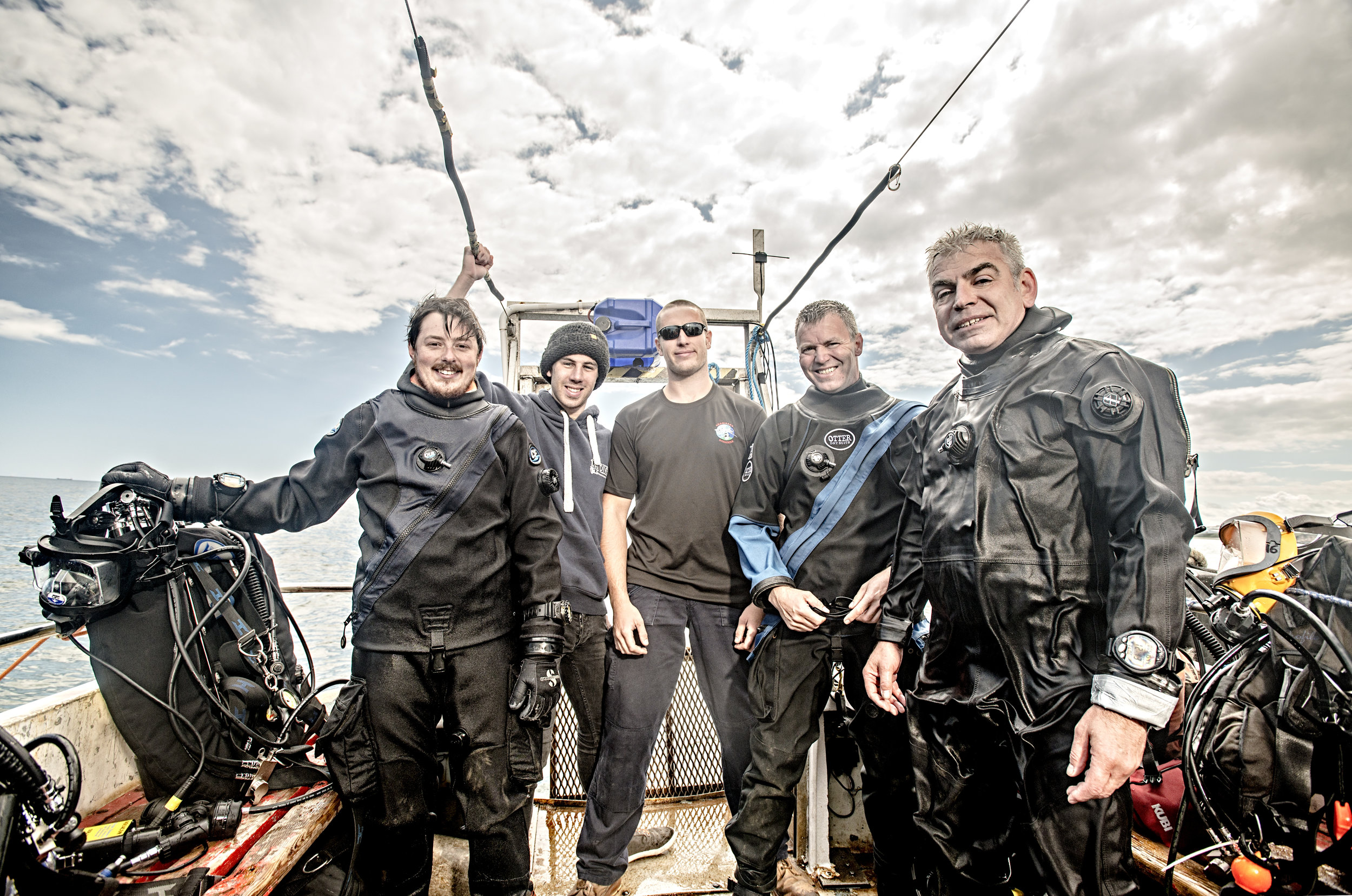 Heading out to Durham coastline - The Wildlife Trust's Dive Team photographed by John Ferguson