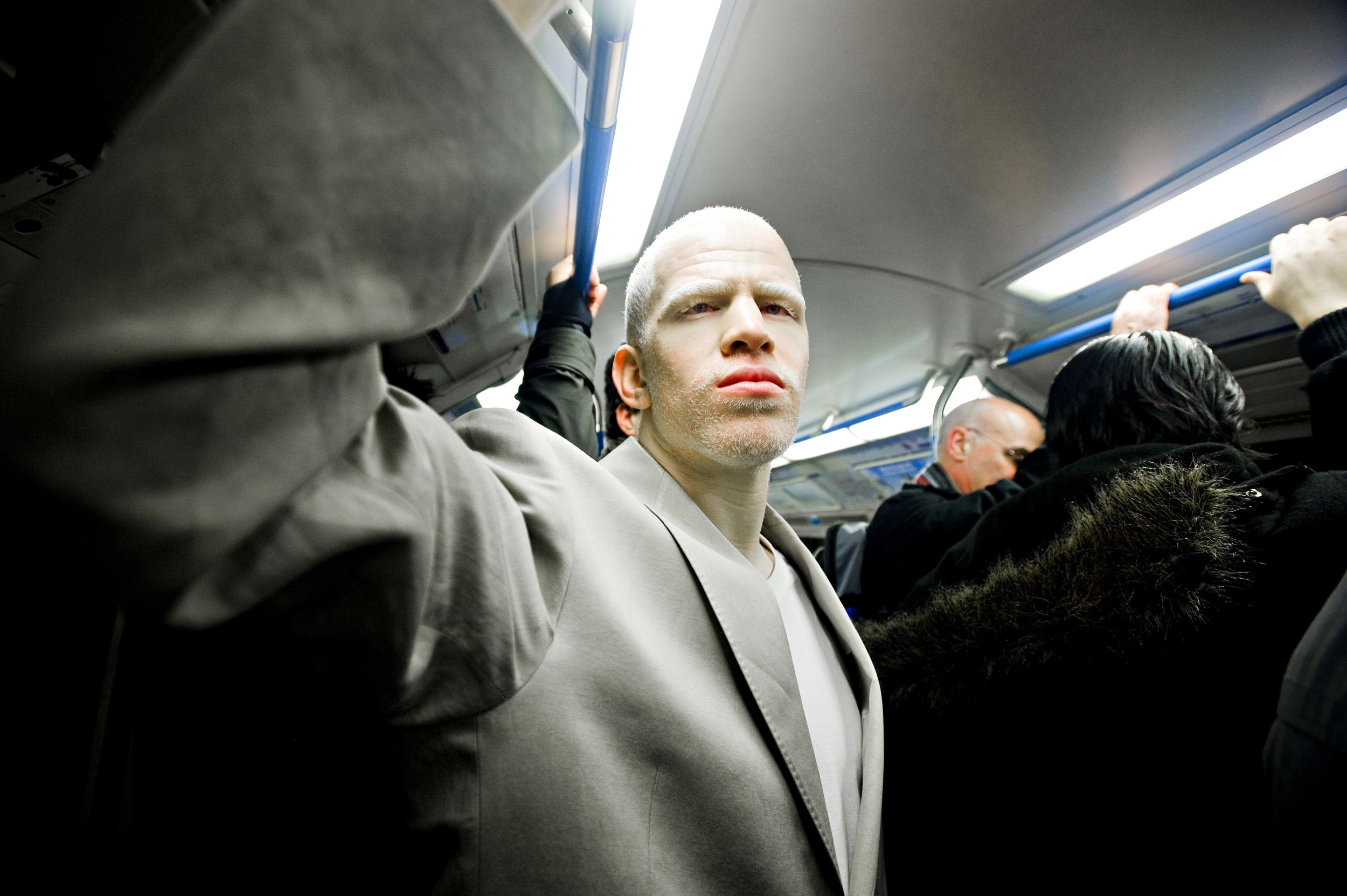 Darnell photographed on London's Underground system.