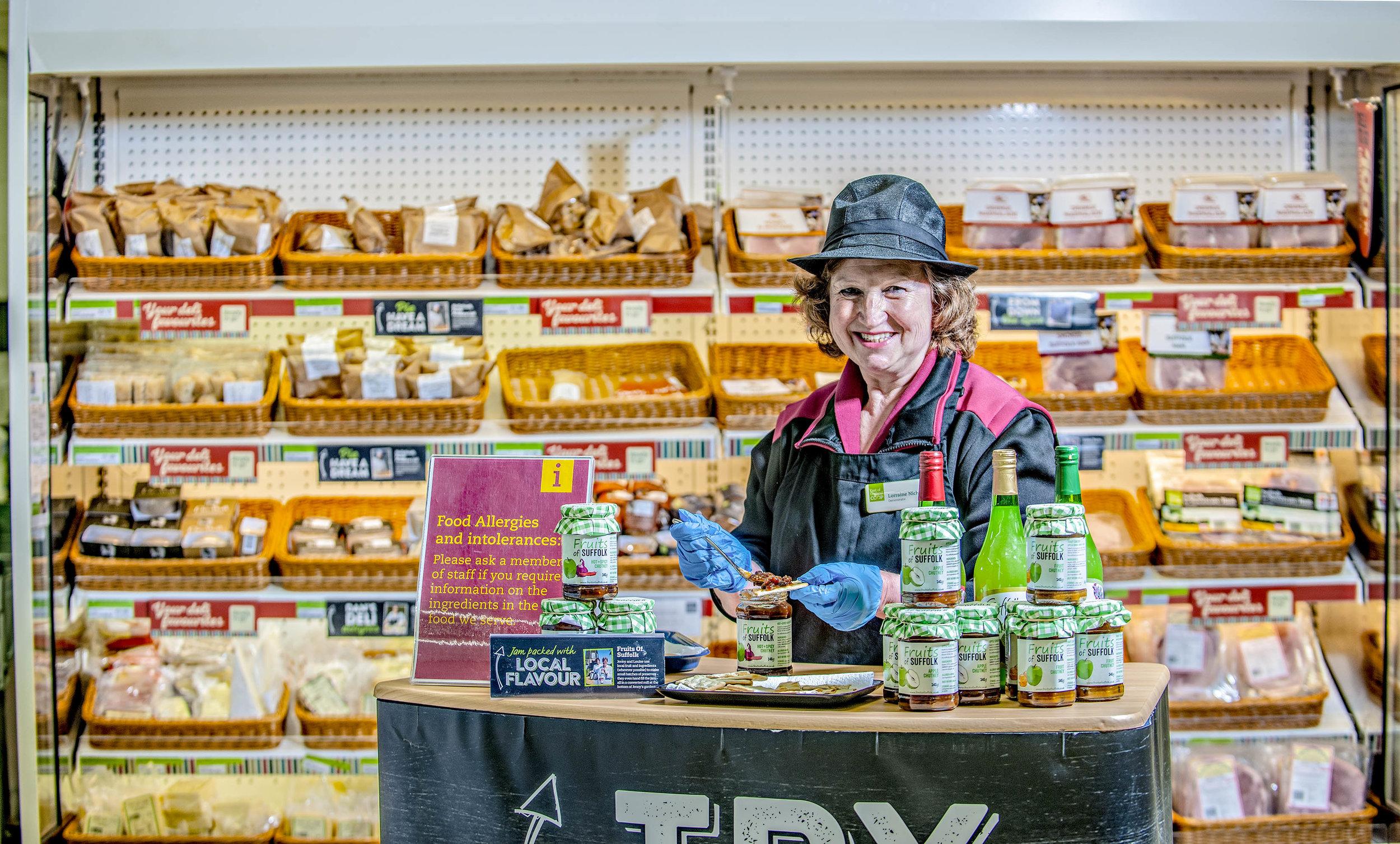 Lorraine Nicholls, Food demonstrator,  Elmswell, Suffolk