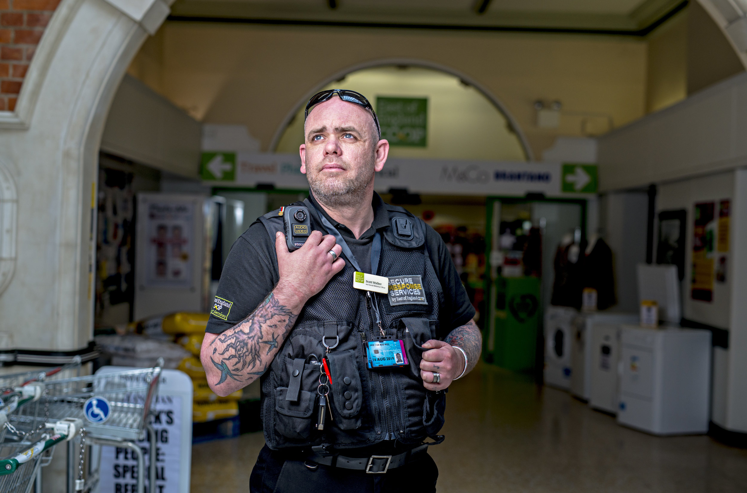 Scott Walker Security co-ordinator for the E of E Co-Op's Felixstowe Store