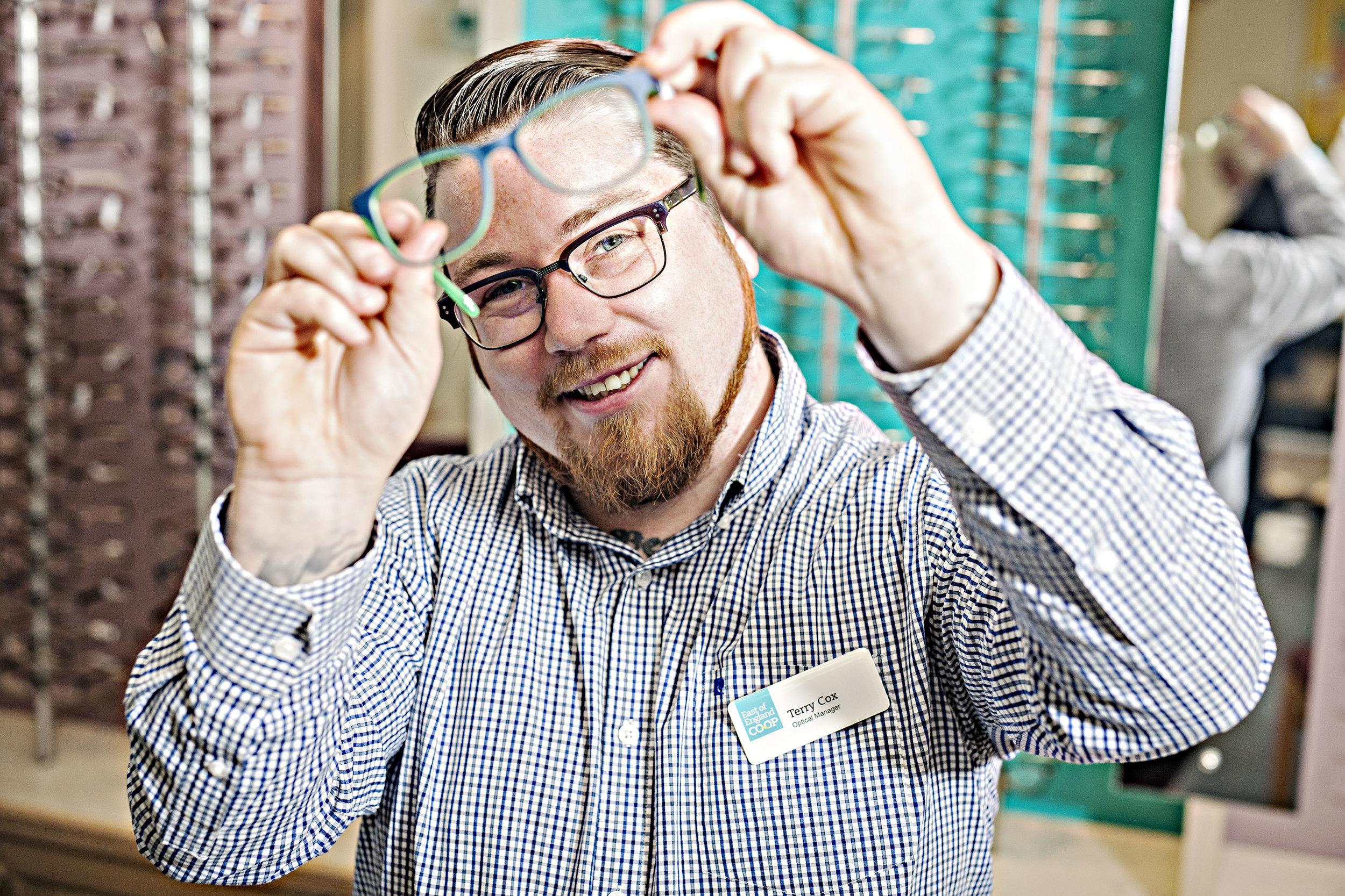 Terry Cox, Co-Op Opticians, Clacton- on- Sea.