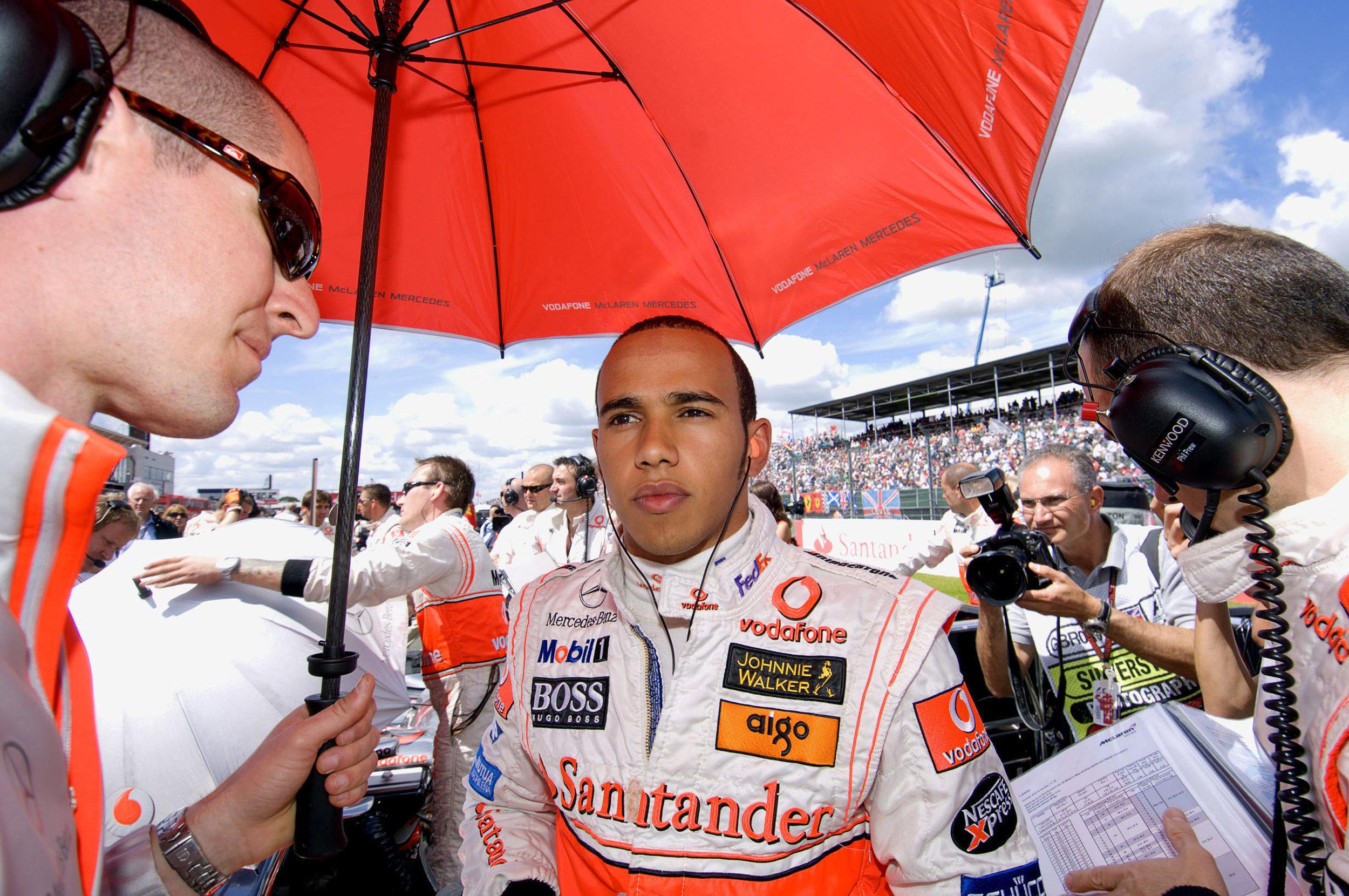British Motor racing champion Lewis Hamilton