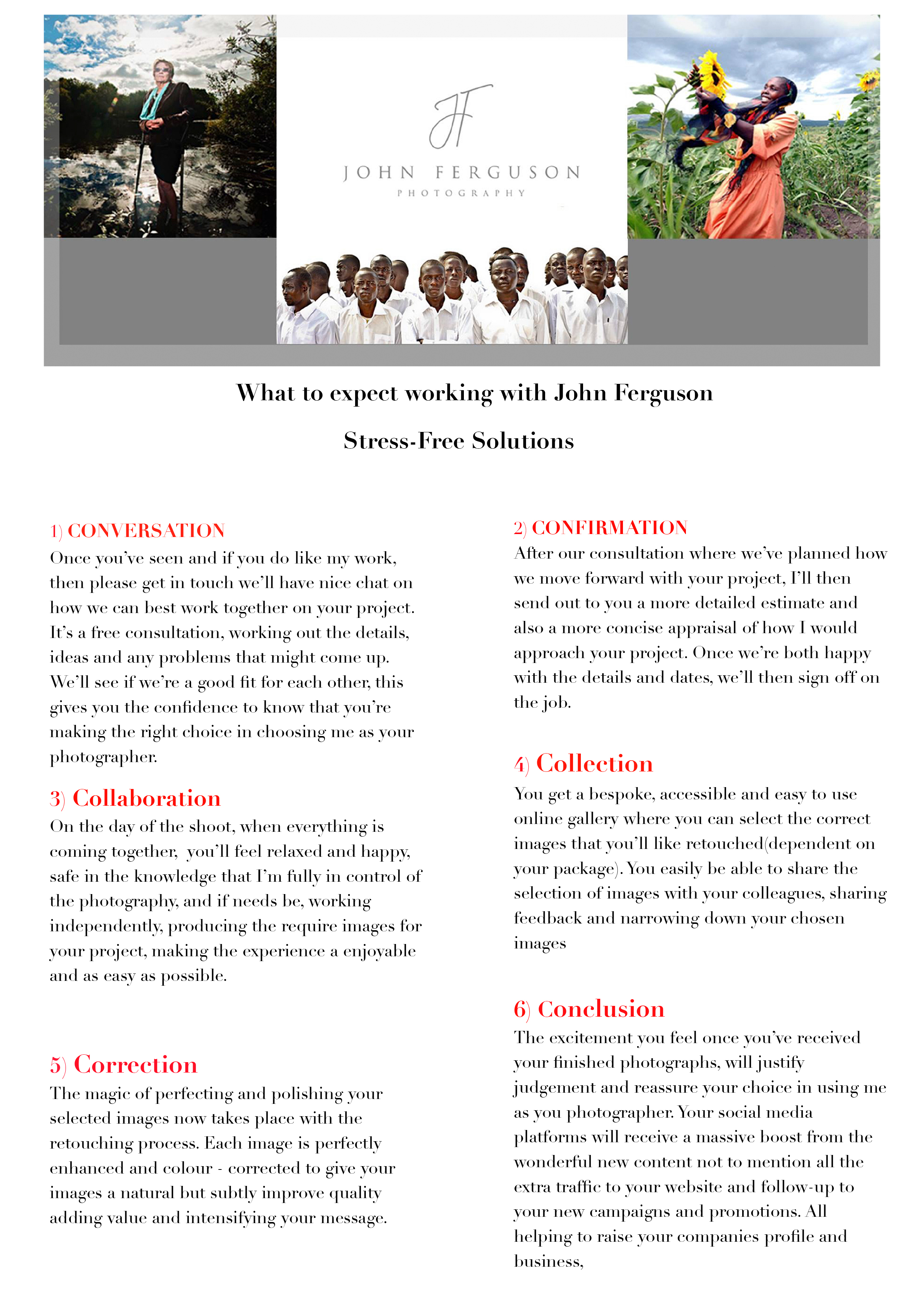 John Ferguson Photography Pricing