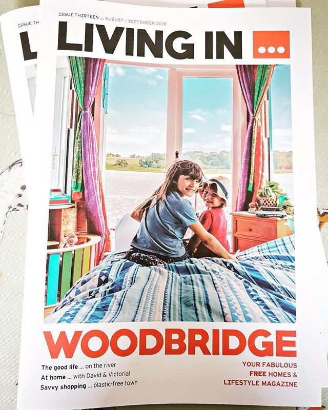 My favourite cover shot, working with the Living in Woodbridge Magazine team. From an article on families living on houseboats in on the River Deben in Suffolk. These two lovely kids, brother and big sis, playing around at the front of the houseboat, stopped for a second, just enough time for me to capture this lovely image of them. So glad it made the cover, such a summertime pix.  #summerpix, #suffolk, #suffolkphotographer, #johnfergusonphotography, #livinginwoodbridge #houseboats #riverliving #photoagent #colourful #lifeonboard #simplelifestyle
