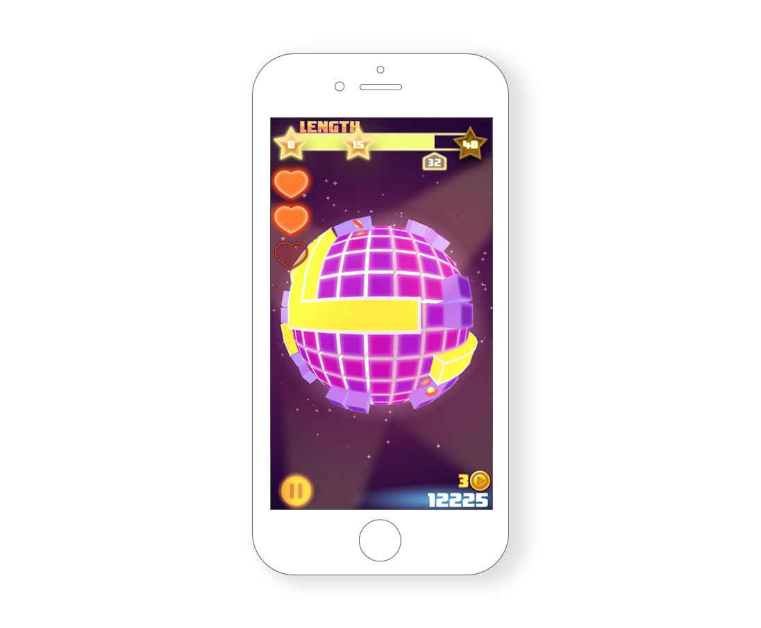 - The game is basically a re-imagining of the classic Nokia Snake game, but it takes place on a sphere, with different level mechanics.Technically it's not a sphere, it is impossible to map a perfect grid on a sphere. Similarly to Tetrisphere, It's actually a plane projected on a sphere using a vertex shader.As the snake is going out of the plane grid, I clone it on the other side of the map going in. There is a camera on each quadrant rendering all at once, which gives it the effect of a continuous sphere.