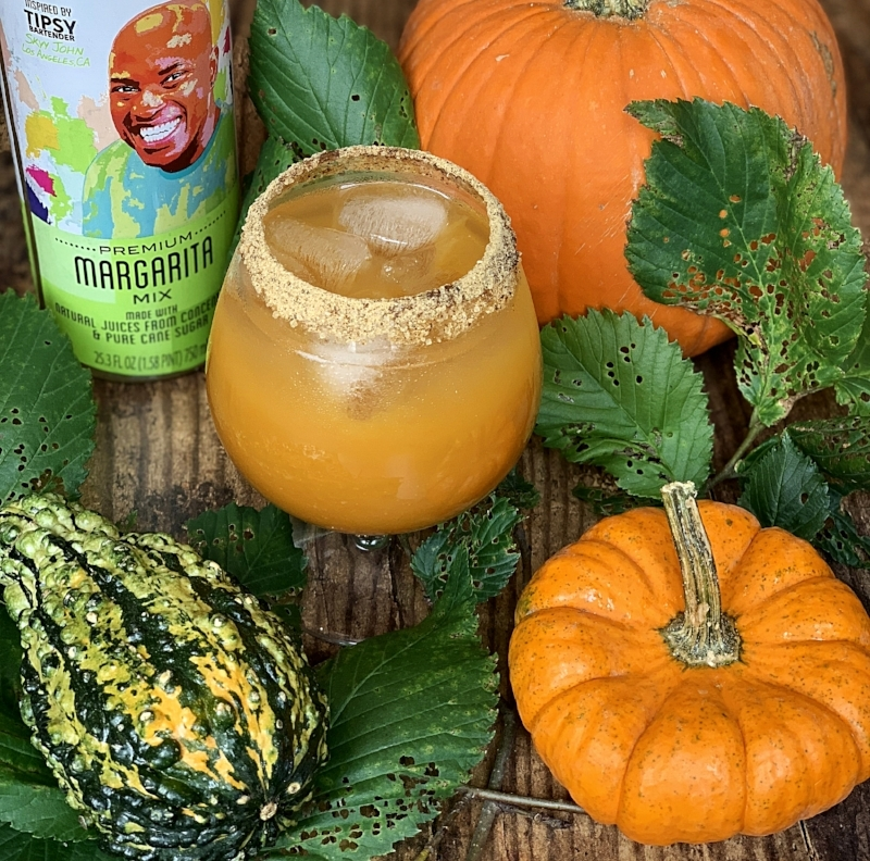 Oh yes we did. We made a pumpkin spice marg—and we even rimmed the glass with our  pumpkin spice blend .