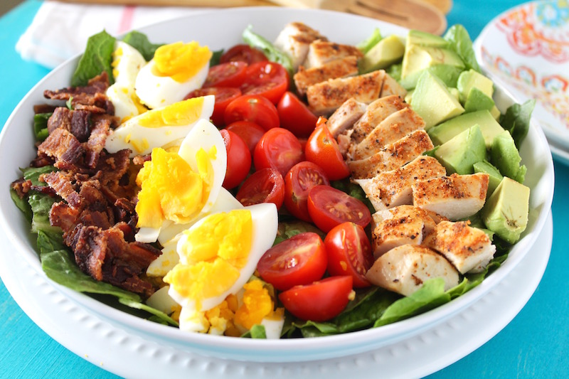Turkey Cobb Salad - Another use for all that turkey sitting in the fridge! And it's gluten-free. And high in protein. And it's on the healthier side since it's a salad. It's the trustworthy cobb for the win. Chances are—especially if you're making a salad as part of your Thanksgiving meal—you probably already have most of these ingredients purchased and sitting in the fridge anyway. You can make an individual portion for yourself, or a larger one (just double or triple the recipe) if you're serving more than just you. And what's great is that the hardest of this whole part is chopping. So if you can do that (which is highly likely if you're making Thanksgiving dinner), the rest is just…dare we say it? Gravy. (Food pun!)