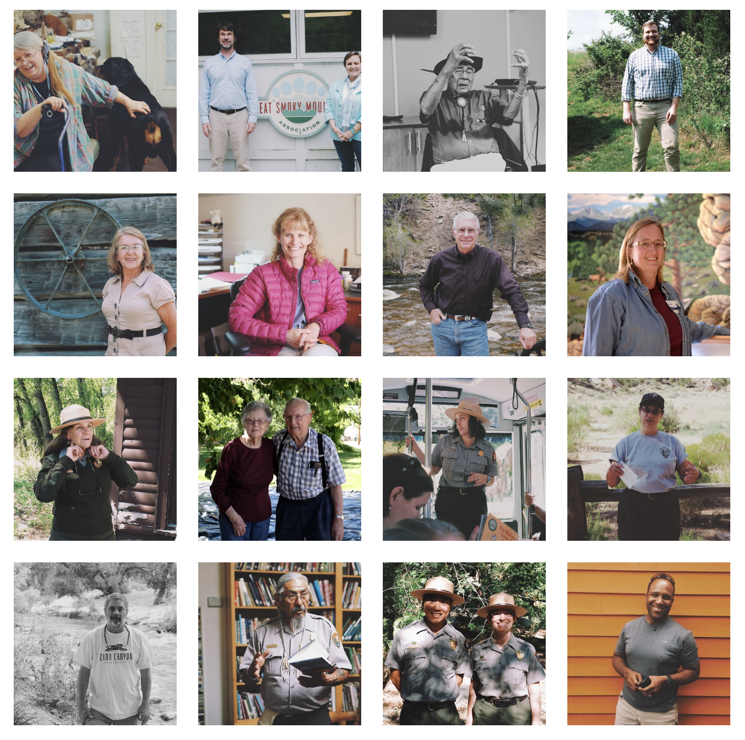 Selection of individuals interviewed for  Campfire Stories  in 2016