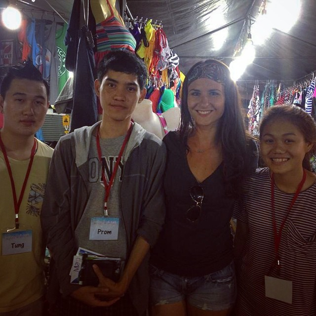 Jung, Prom, and Oil at the night market!
