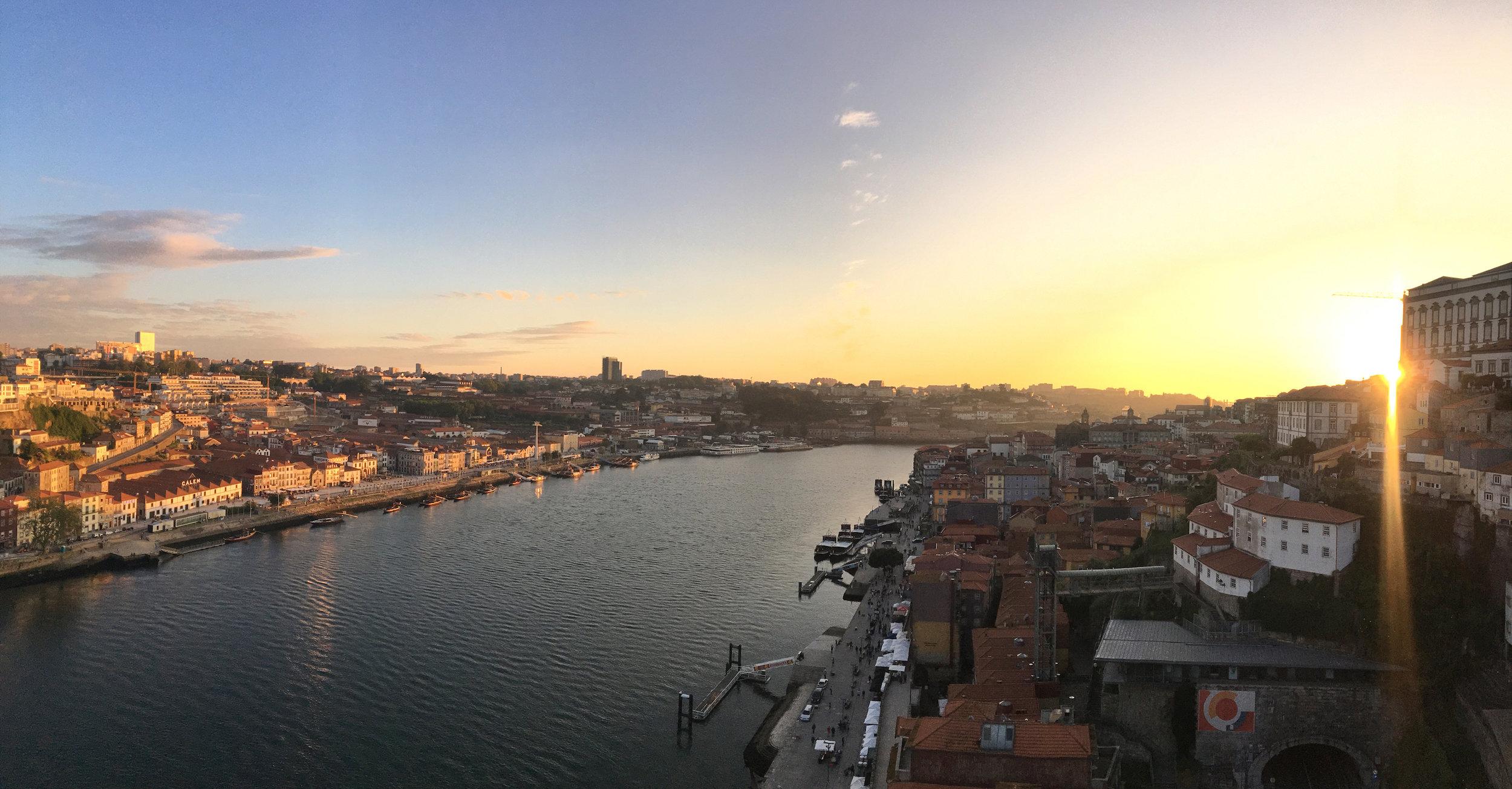 Porto Portugal Sunset Dom Luis Bridge.JPG
