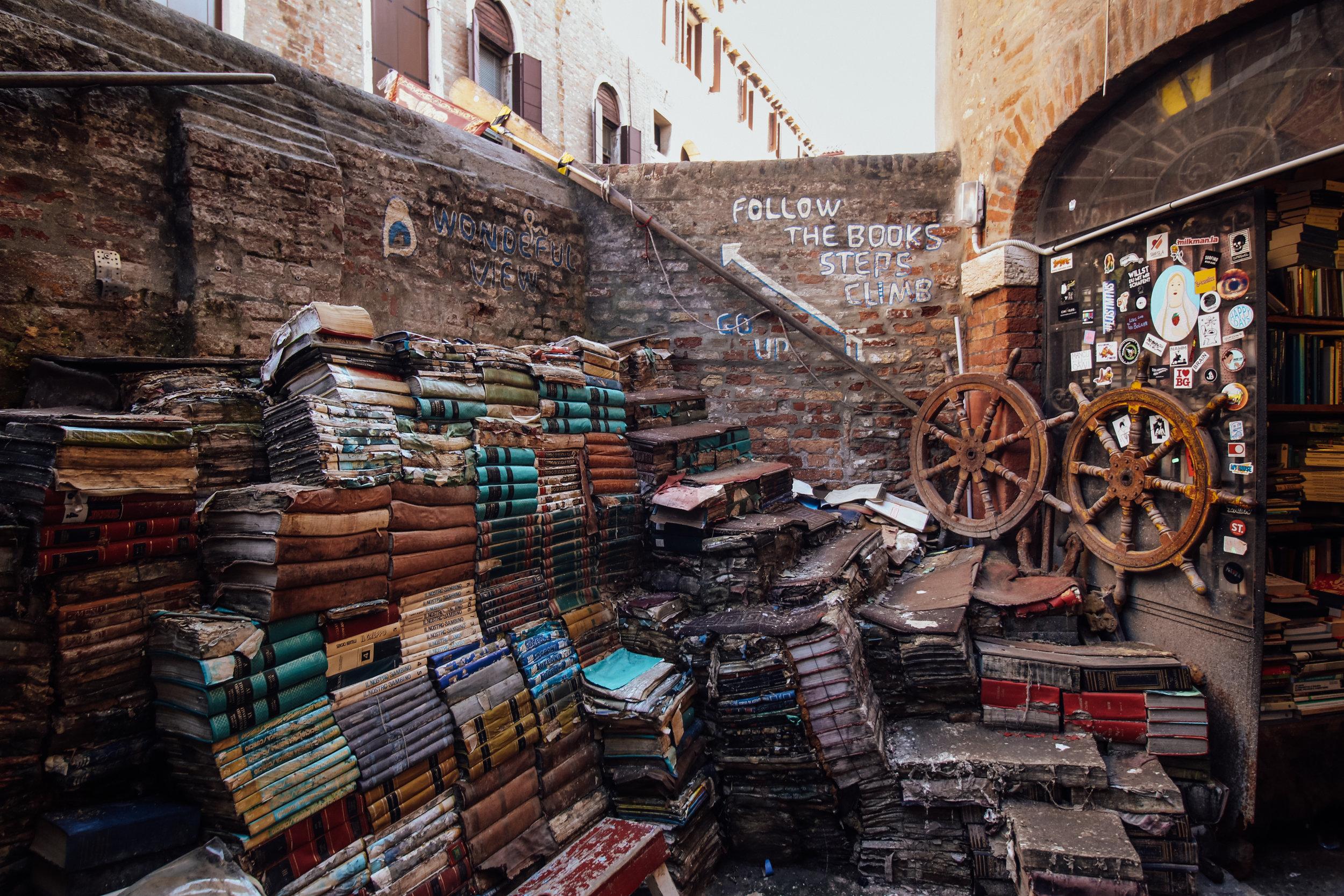 Libreria Acqua Alta: 10 Photos of Venice's Must-See Bookshop — Girl Gone  Abroad