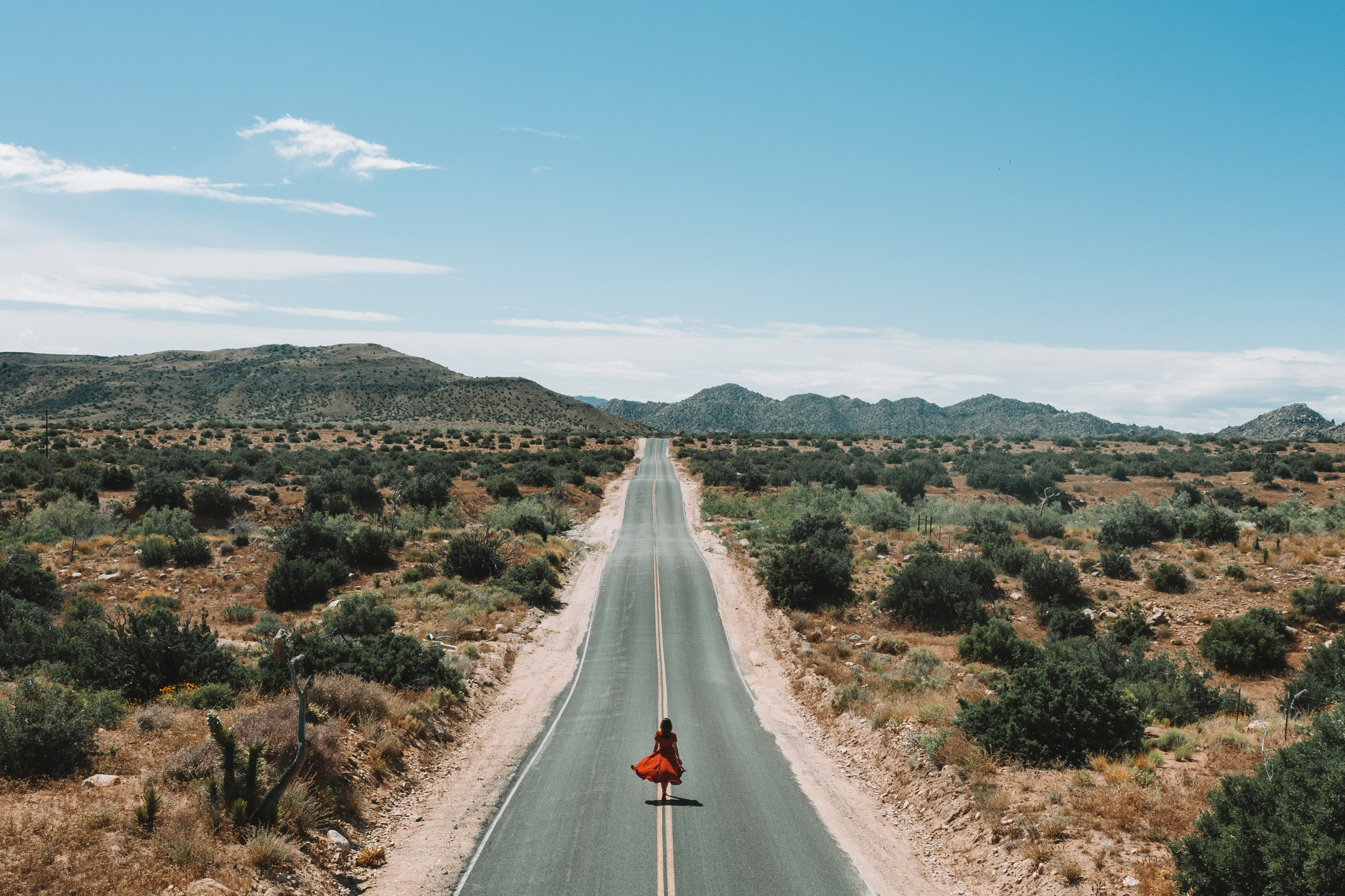 One of the roads on the way to Pioneertown