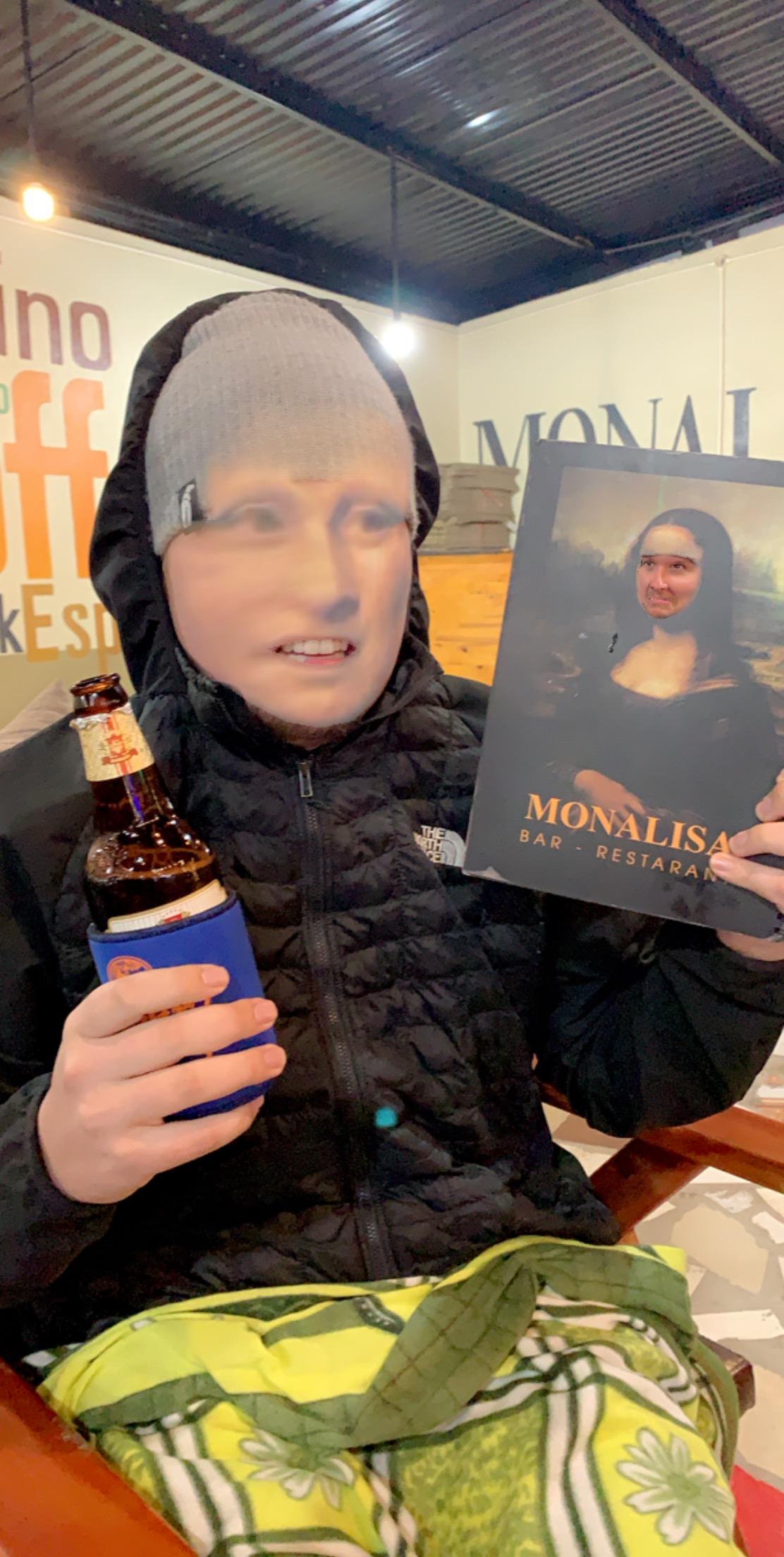 Actual photo of me at Monalisa.