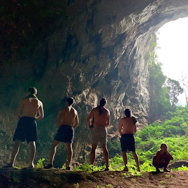 "We'd love to take the ""piss"" out of cave trekking but it was just too epic! . . . . . Ps, I'll add the rest of the tags mañana! Thanks @jungleboss_vietnam for an incredible adventure!"