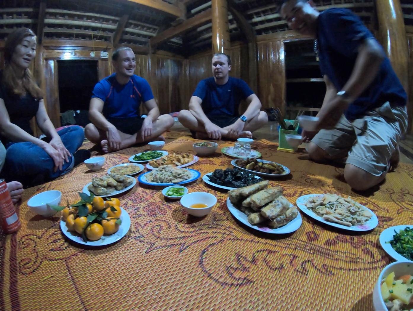 Family dinner at the  Mojo Dojo