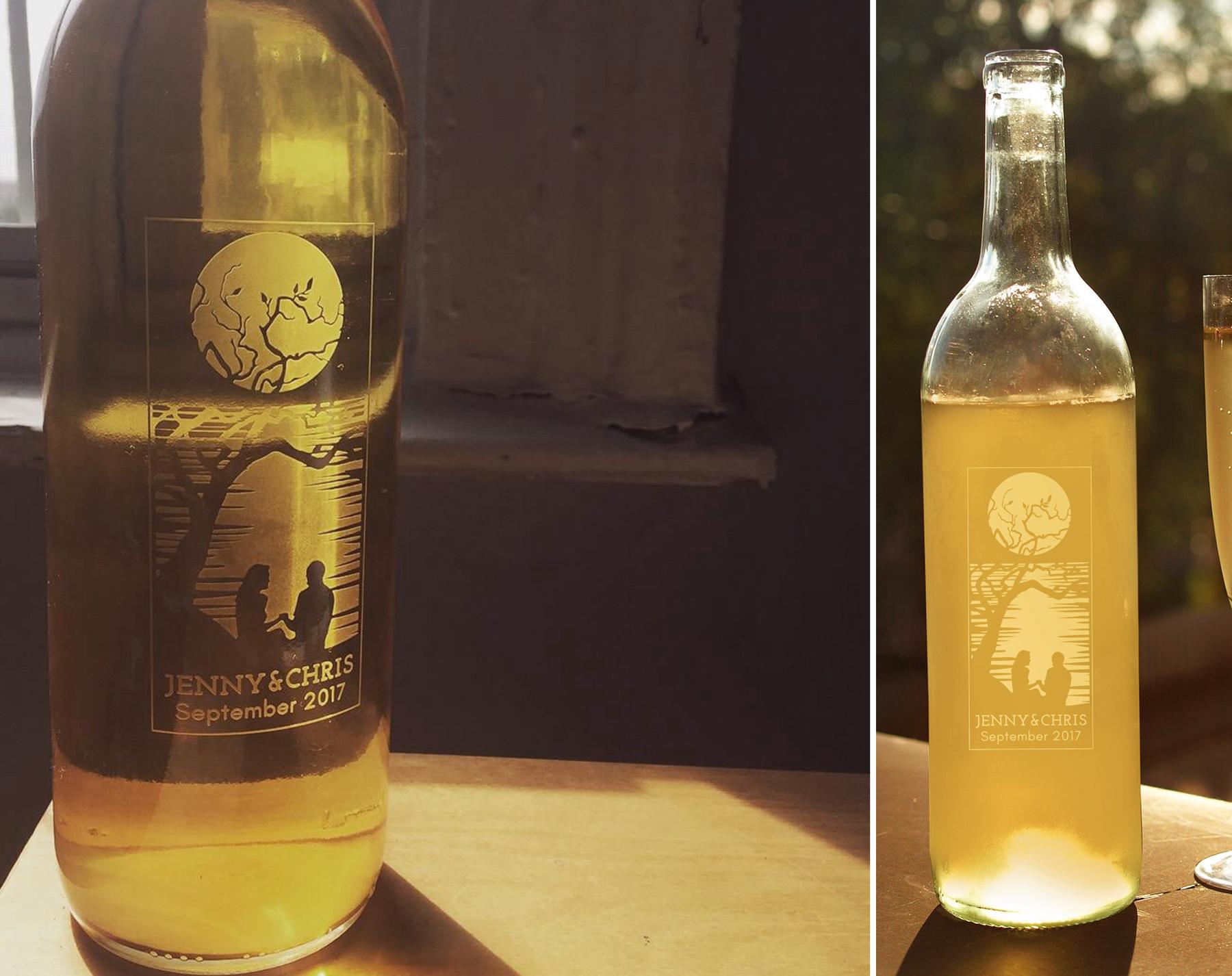 Engraved Bottle - Custom Wedding Gift