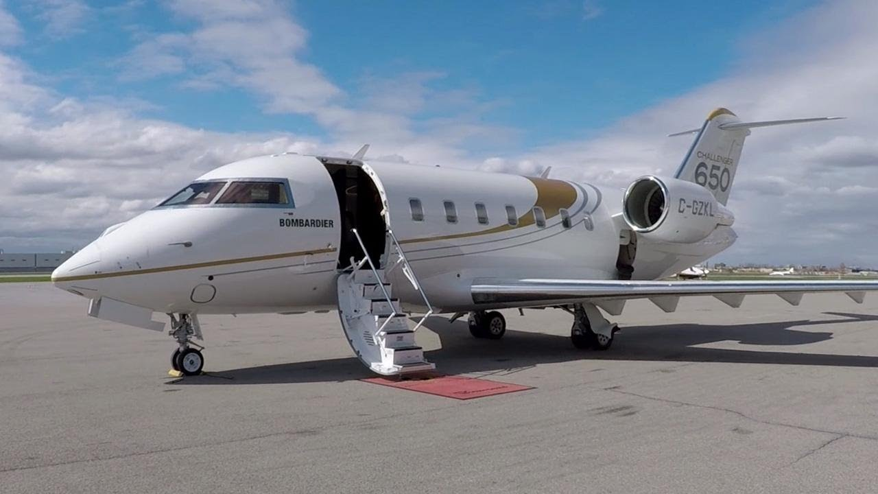 The Bombardier Challenger 650.  Photo credit: AINtv