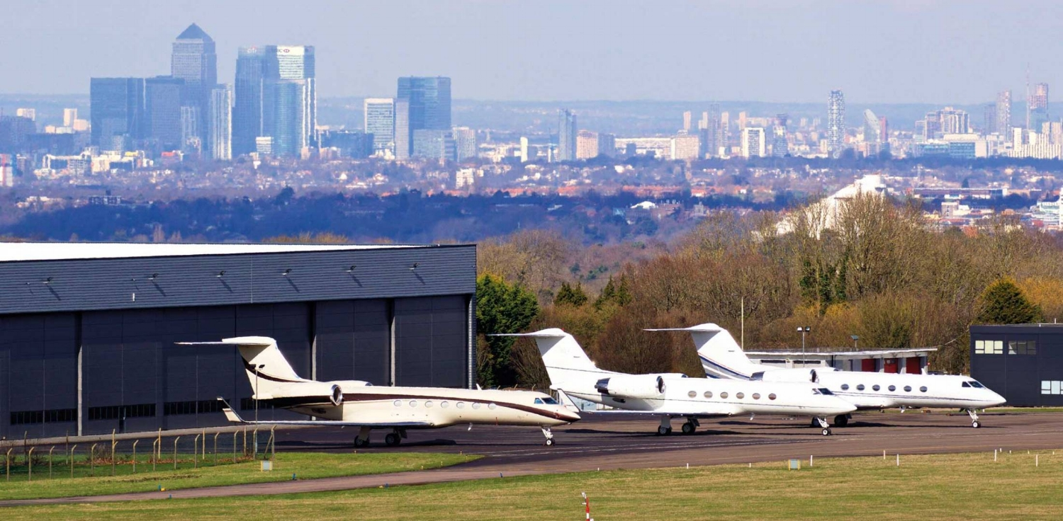 London's Biggin Hill Aerodrome is a stone's throw from one of the biggest cities in the world. Photo credit: AIN.