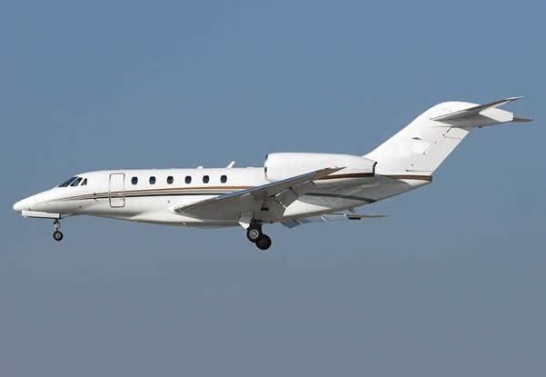 The Cessna Citation X Business Jet is the current speed leader, with a max cruising speed of Mach 0.935, or 617 miles per hour.
