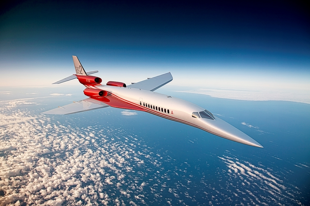 The Aerion AS2, a private supersonic jet currently under development.