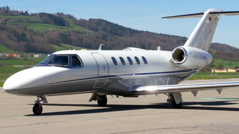 The CitationJet CJ4 entered service in 2010.