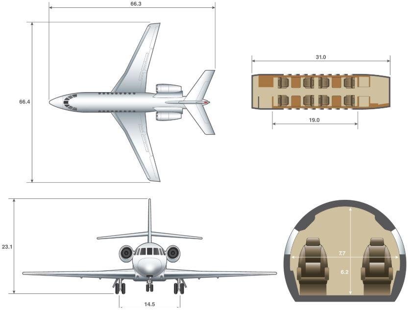 Falcon 2000 dimensions.JPG