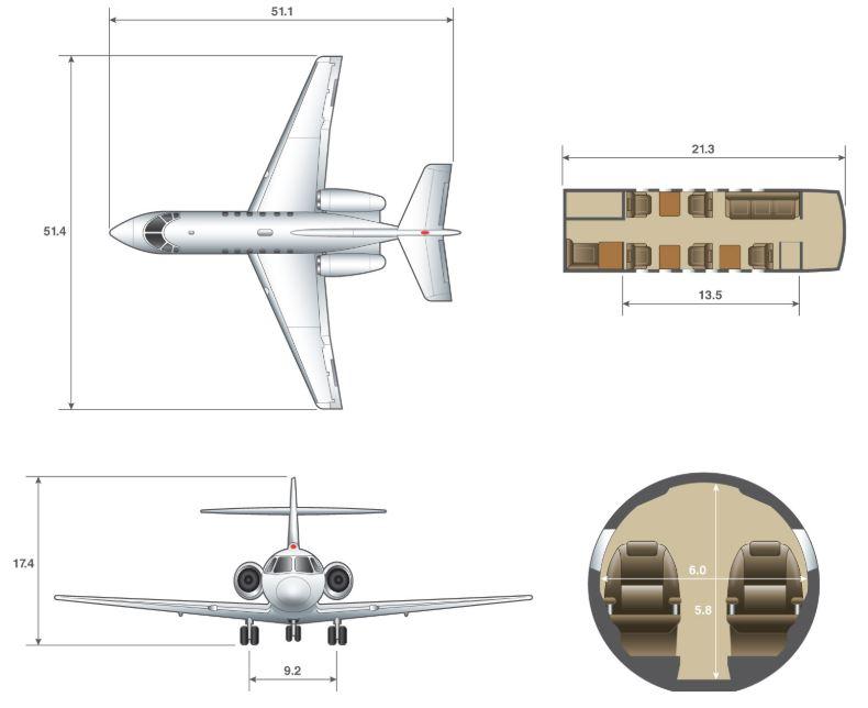 Hawker 800 dimensions.JPG
