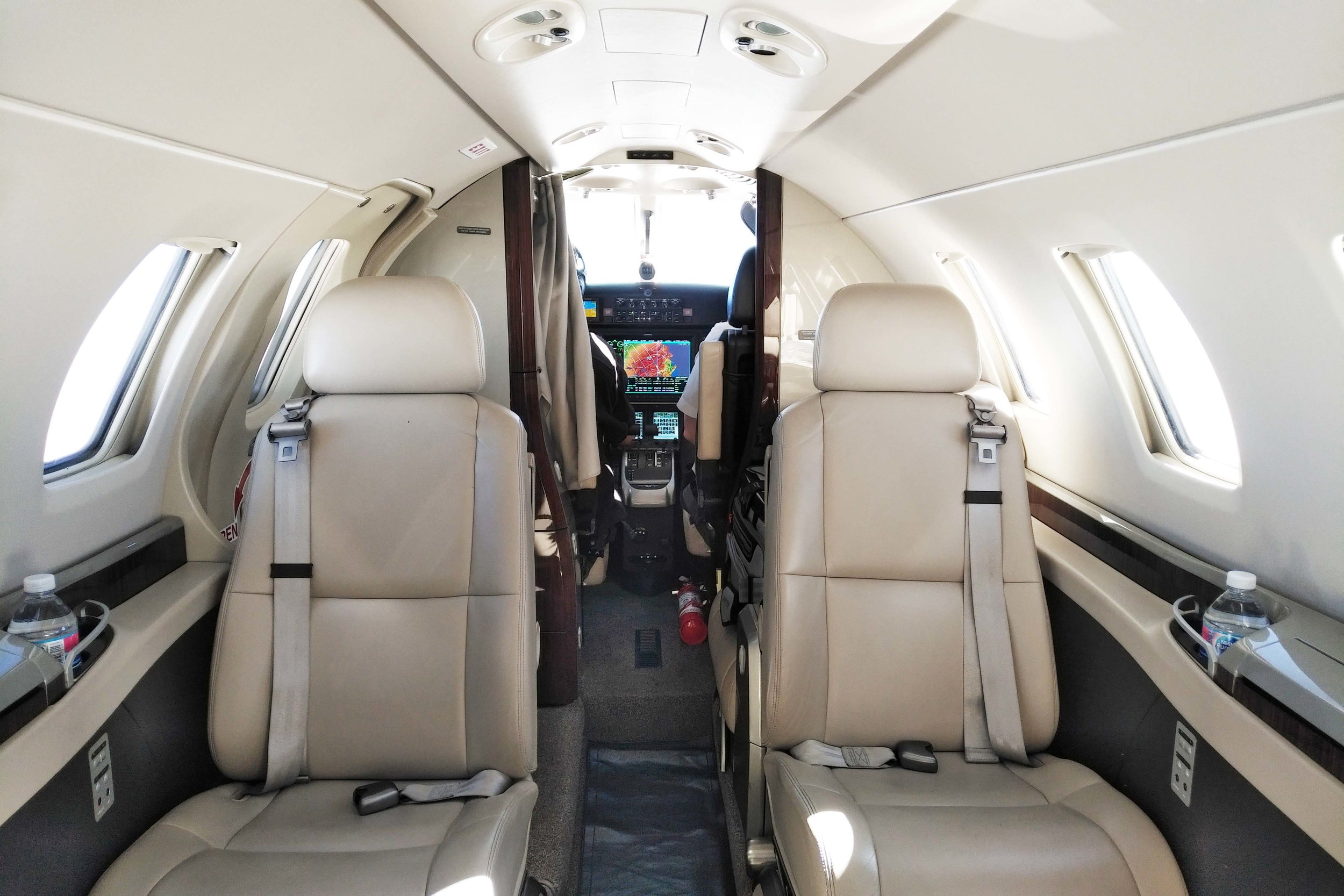 The cabin of the Cessna Citation M2
