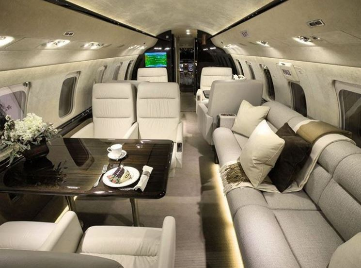 Spacious. In an executive configuration the Challenger 850 seats up to 16 quite comfortably.