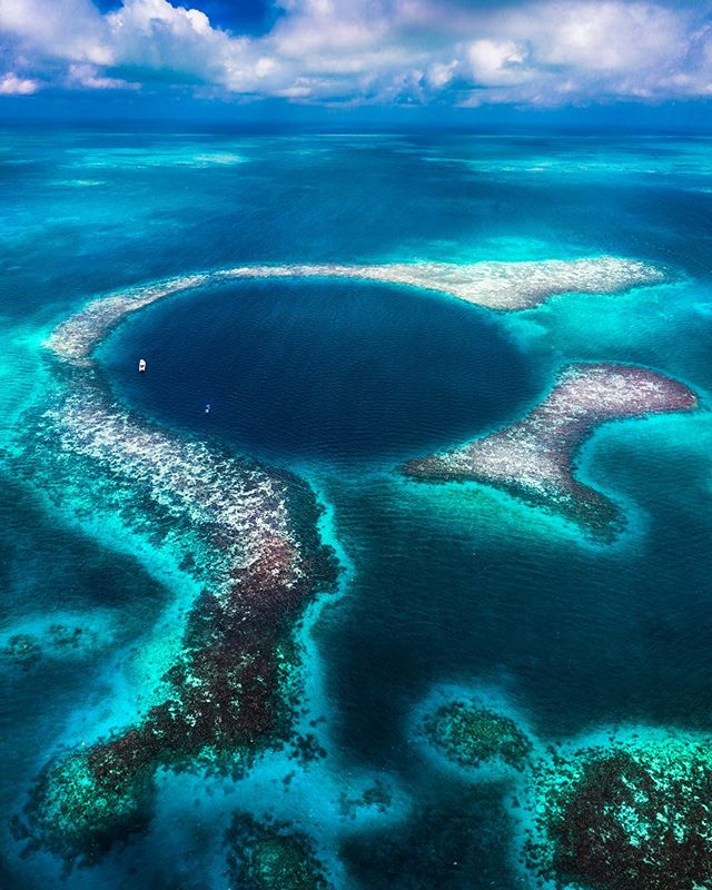 984 feet wide and 410 feet deep. Have you heard of the Blue Hole off the coast of Belize? I finally checked droning this gem off my bucket list! Thanks to @hamanasi_resort 🙌🏻🐠 I had to choose diving it or droning and I couldn't resist the chance to get Goose (Mavic 2 Pro) up while the group descended into the abyss below. — The next two Droning With Whales and Dolphin Workshops take place this weekend in Dana Point, California. I still have a couple spots available! I'm blown away by some of you flying in from out of state for it! June 8th, 9th and 22nd. DM me for more info! I'll show you how I edit these whale shots during lunch after we fly over dolphin and whales. — Filters used: @tiffencompany ND/PL 4 for the first shot  Tasty Tune: Underwater by Rüfüs du Sol .  Blue hole Half moon caye wall  Aquarium dive