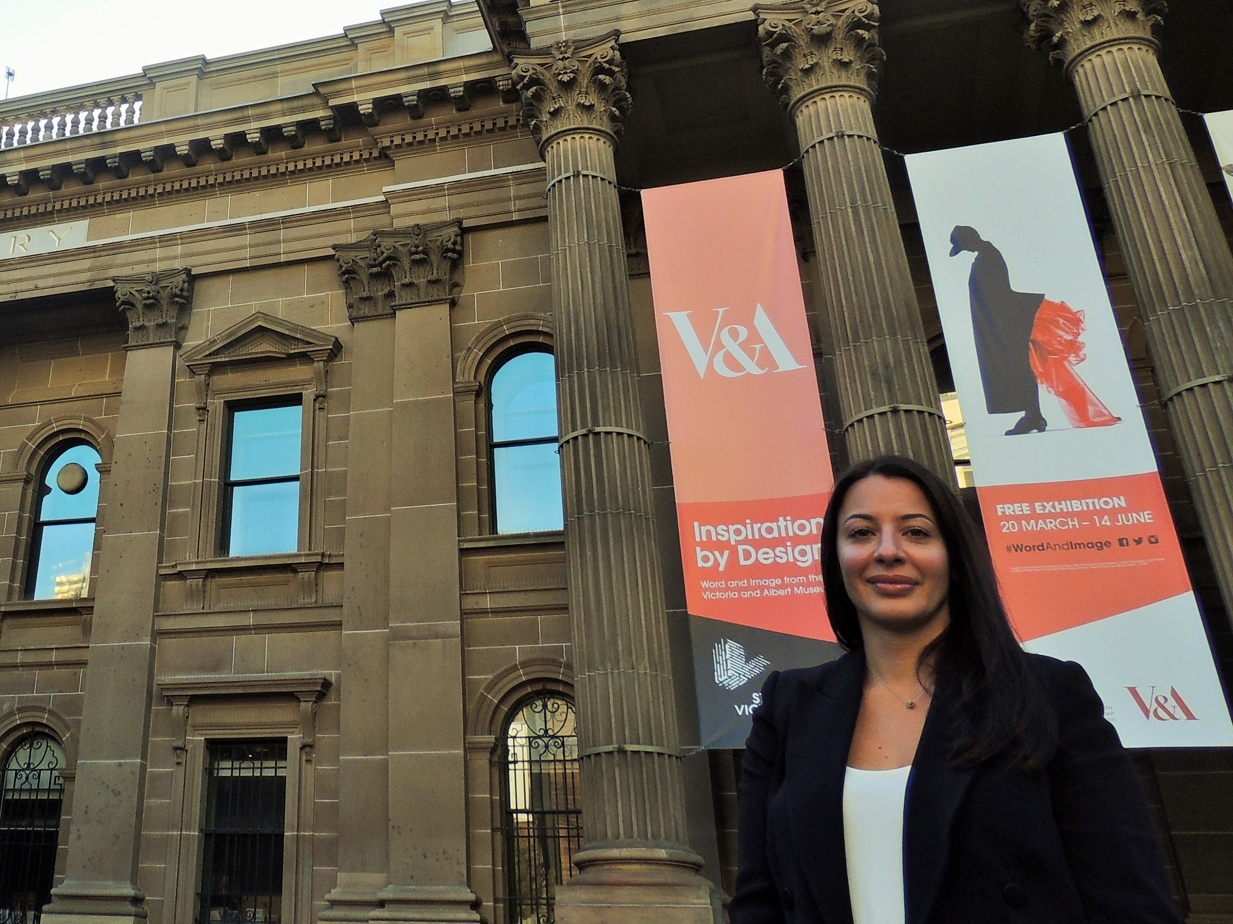 Laura at the State Library of Victoria. One of her favourite buildings in Melbourne