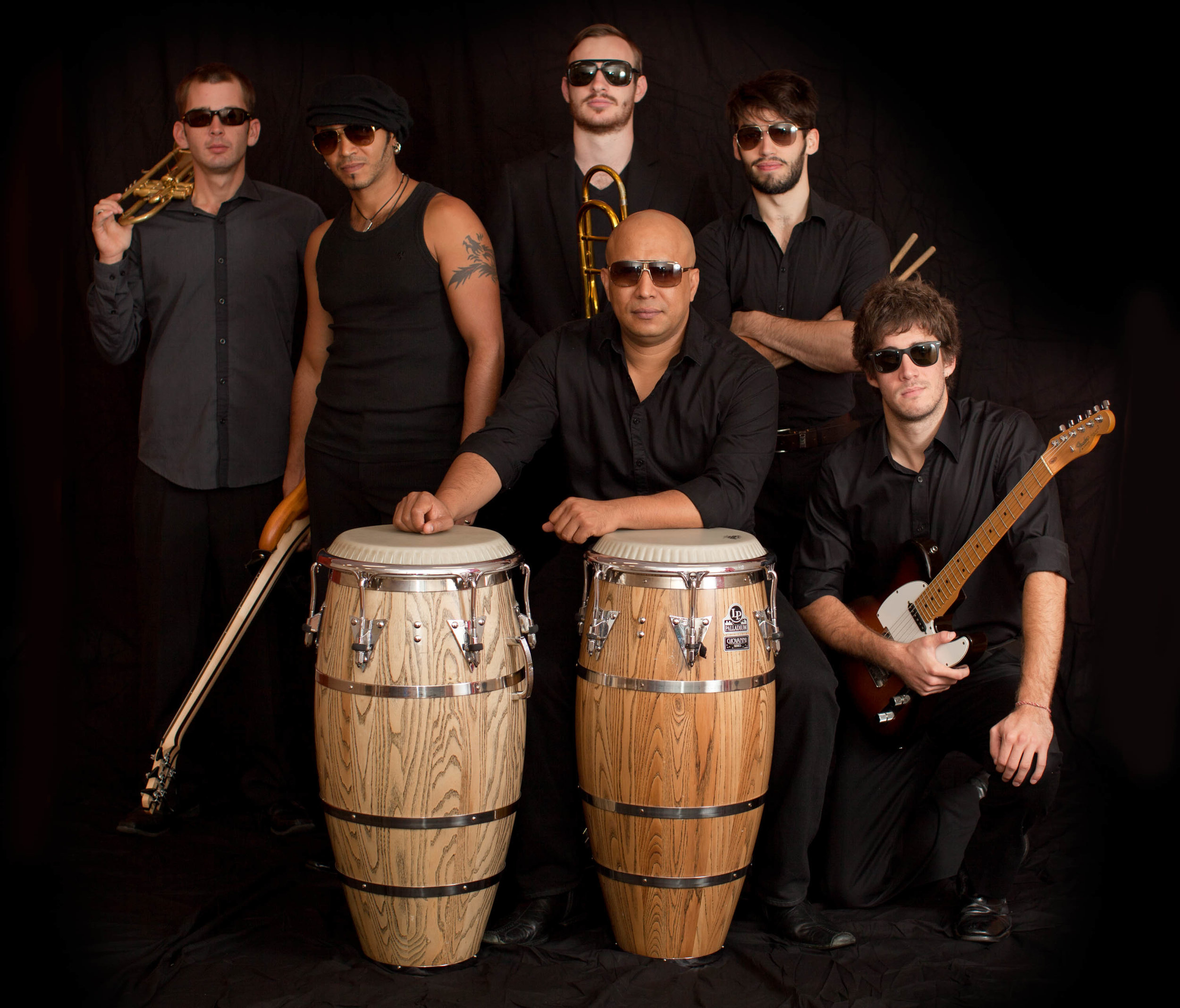 Hugo with his band Soul Macumbia. Photo courtesy of Philip Johns
