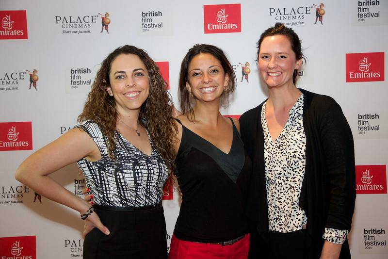 Paulette at the opening night of the British Film Festival with her work colleagues