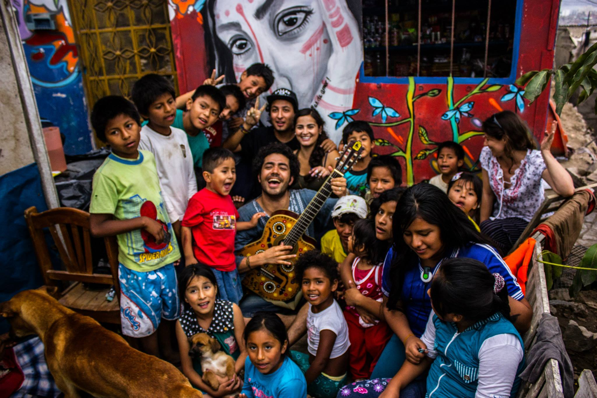 Social work and benefit concerts for children and communities with educational needs -Vibrating Planet in Lima,Peru - January 2014