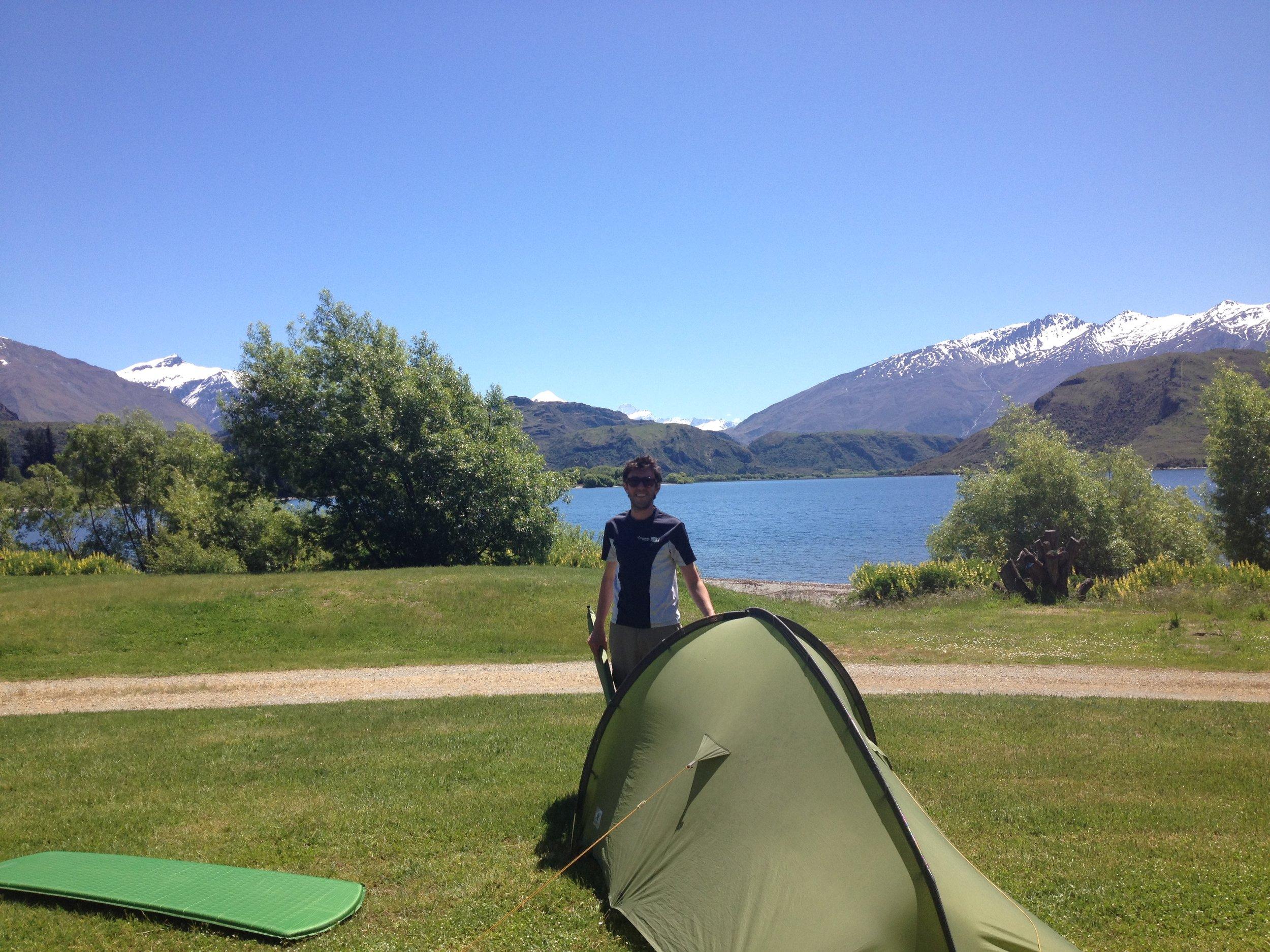 Gustavo enjoying the outdoors at Lake Wanaka, New Zealand (2016). Photo courtesy of Samantha Mikus