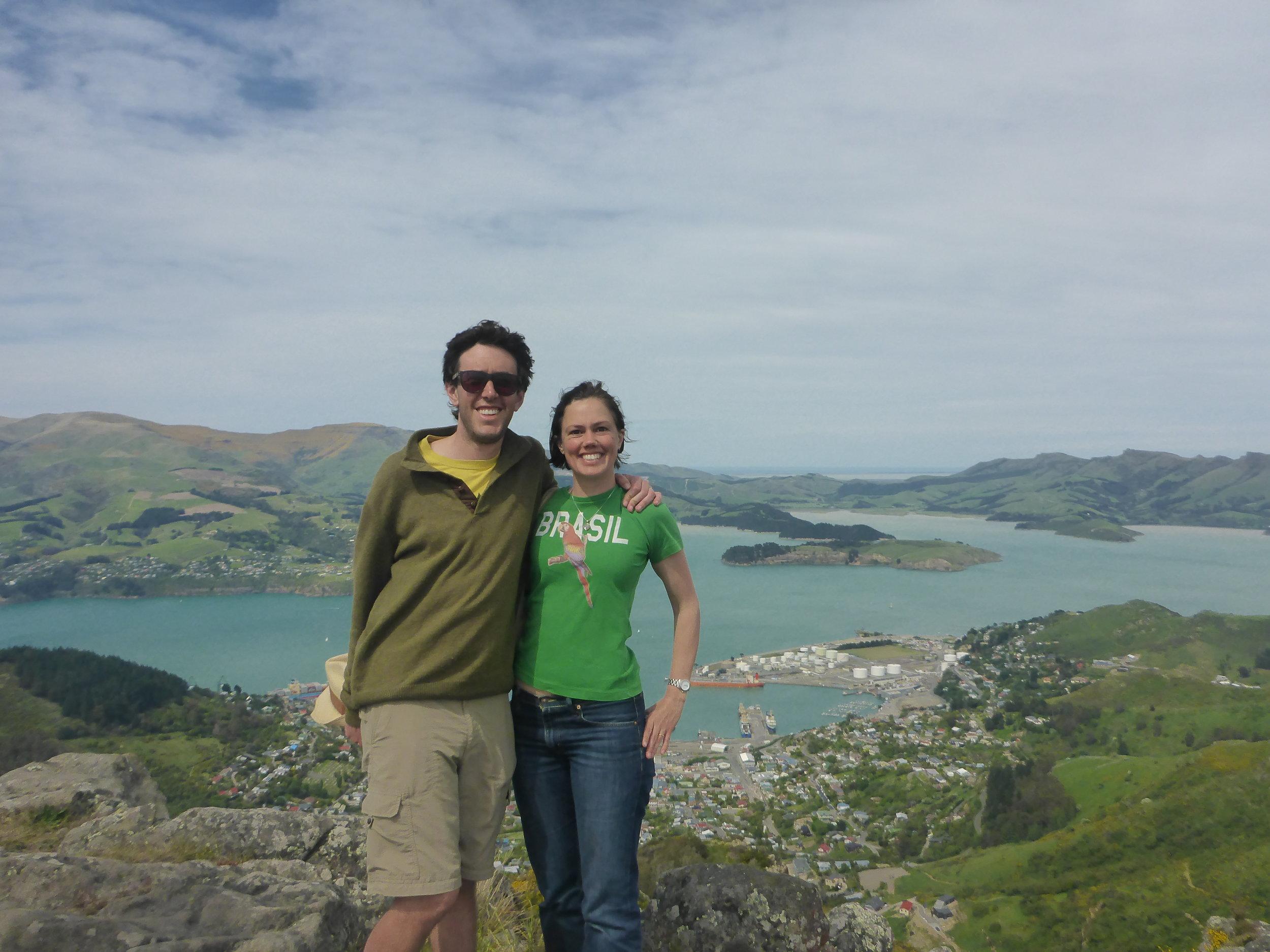 Gustavo and Sam at Banks Peninsula, New Zealand (2015). Photo courtesy of Catherine Coghill