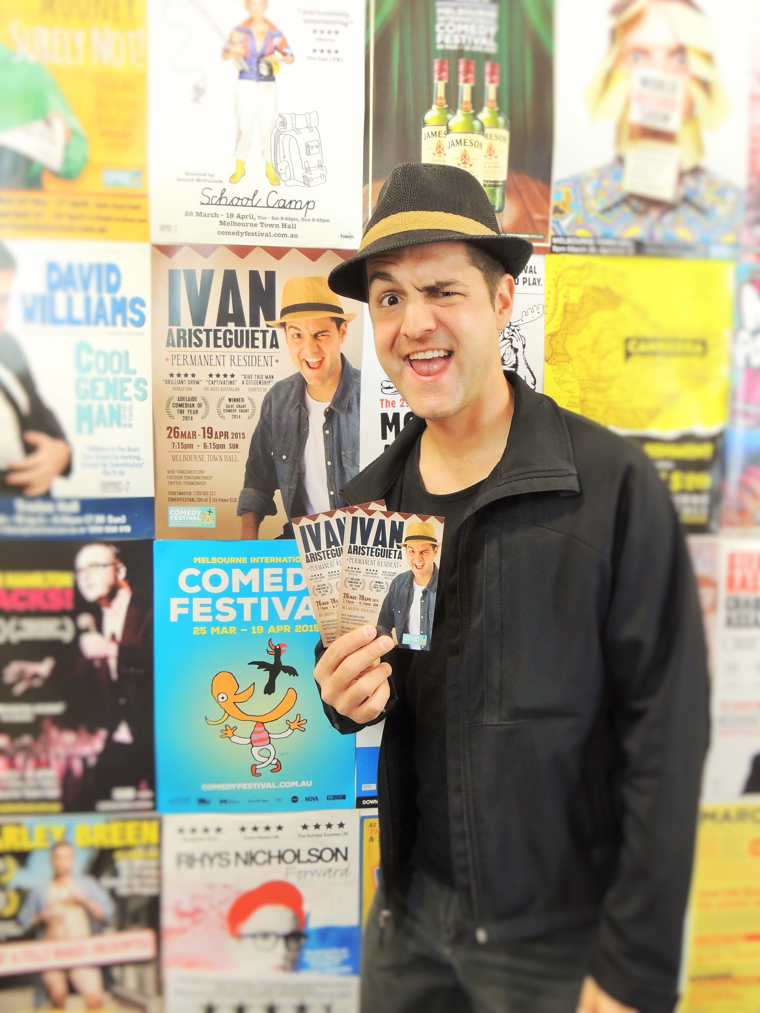 Ivan at the MICF. Photo by Latin Stories Australia
