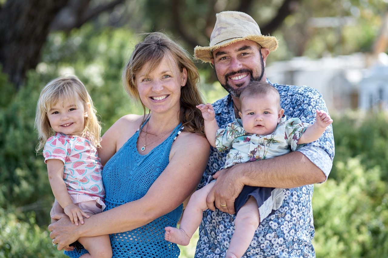 Martin and his beautiful family. Photo by Michael Holt, Victoria 2017
