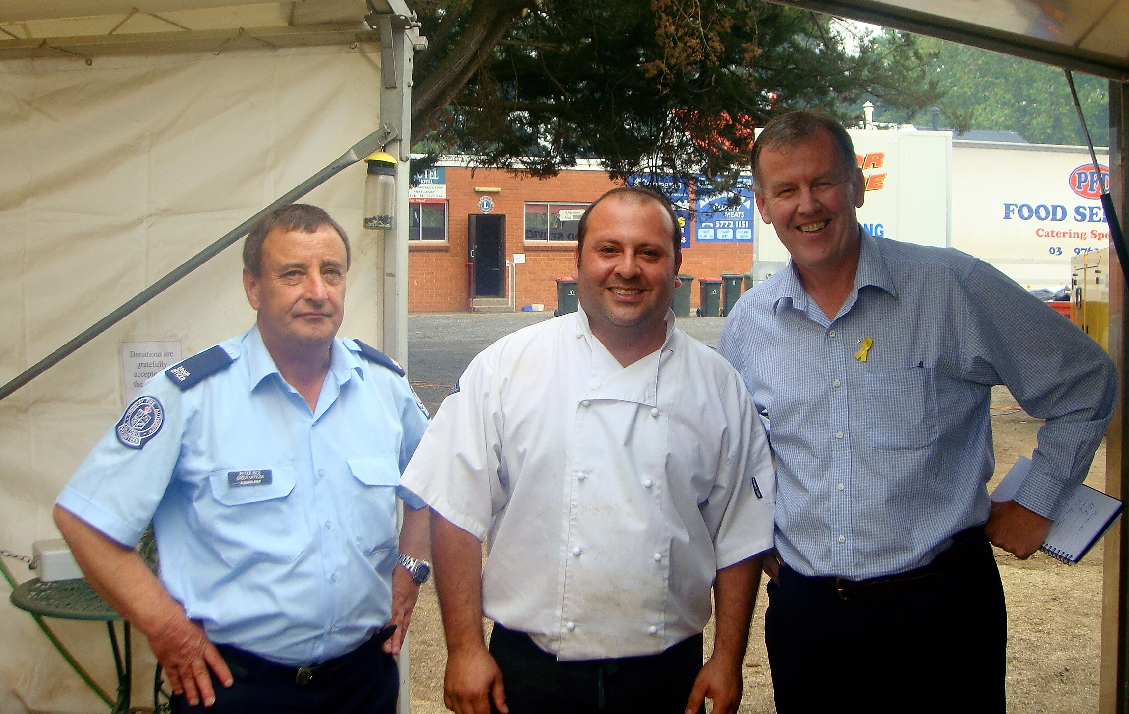 Frank joined the thousand of volunteers after the black Saturday fires in Victoria (2009) -
