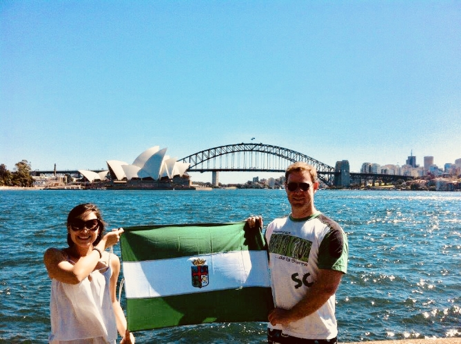 Paul and Vivian celebrating Santa Cruz's day in Sydney.