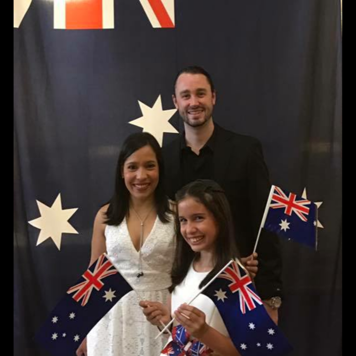 The family at the citizenship ceremony