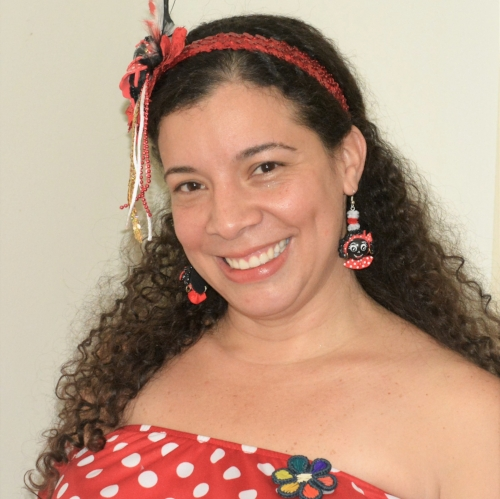 Karina in carnaval outfit. Photo by Juan David Giraldo